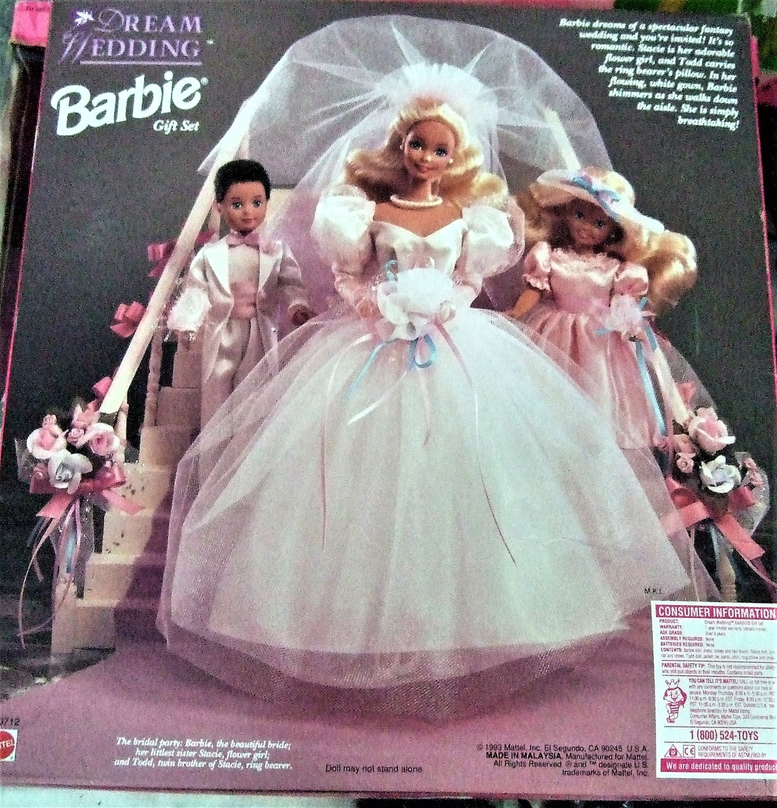 Barbie Doll - Vintage 1993 Dream Wedding Set with Stacie & Todd Limited Edition