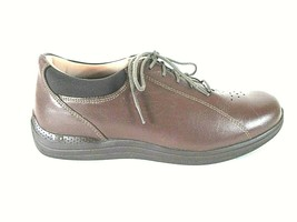 Drew Brown Leather Sneakers Lace Up Oxford Casual Shoes Men's 10 M (SM5) - $63.99