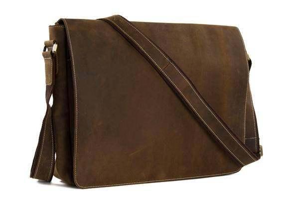 Sale, Handmade Vintage Leather Bag, Leather Messenger Bag, Men's Leather Shoulde image 2