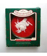 1986 Hallmark Norman Rockwell Santa Checking Up Cameo Ornament -7th in S... - $11.75