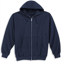 5X Big Lee Zipper Hooded Sweatshirt 5XB Navy Free Shipping! New! - $18.99
