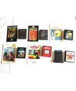 Atari 2600 Lot of 7 Video Games Some Manuals Activision Pacman Football ... - $23.74