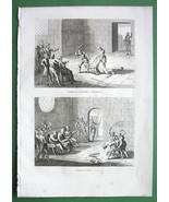 HOLY LAND Punishment of Criminals by Lashing - Antique Print Copperplate - $8.44