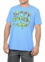 Large Men's MAUI & Sons Tee Shirt Island Chubz Heather Royal Short Sleeve NEW