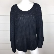CALVIN KLEIN JEANS Women's NWOT Black Cable Knit Long Sleeve Sweater SIZ... - $23.70