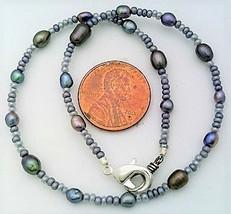 Black Freshwater Pearl Bracelet - $12.99