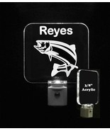 Personalized Fish LED Night Light, Wide Mouth Bass,  Kids Nightlight, Fi... - $23.50