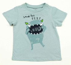 First Impressions New Infant Boys Graphic Print Blue Cotton T Shirt Tee 18 M - $8.90