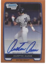 2012 Bowman Draft Chrome Prospect Autographs Orange Refractors #AAU Aust... - $75.00