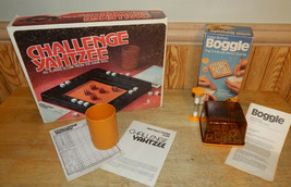 Vintage Parker Brothers Boggle Hidden Word Game and Challenge Yahtzee 1980 - $24.48