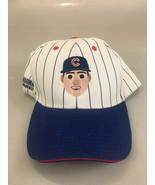 Chicago Cubs Rizzo 44 Pinstripe Cotton Baseball Cap Melonwear SGA 8/31/17 - $43.12