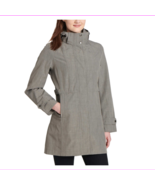 Women's Kirkland Signature Waterproof Wind Resistant Hooded Rain COAT L/... - $59.99