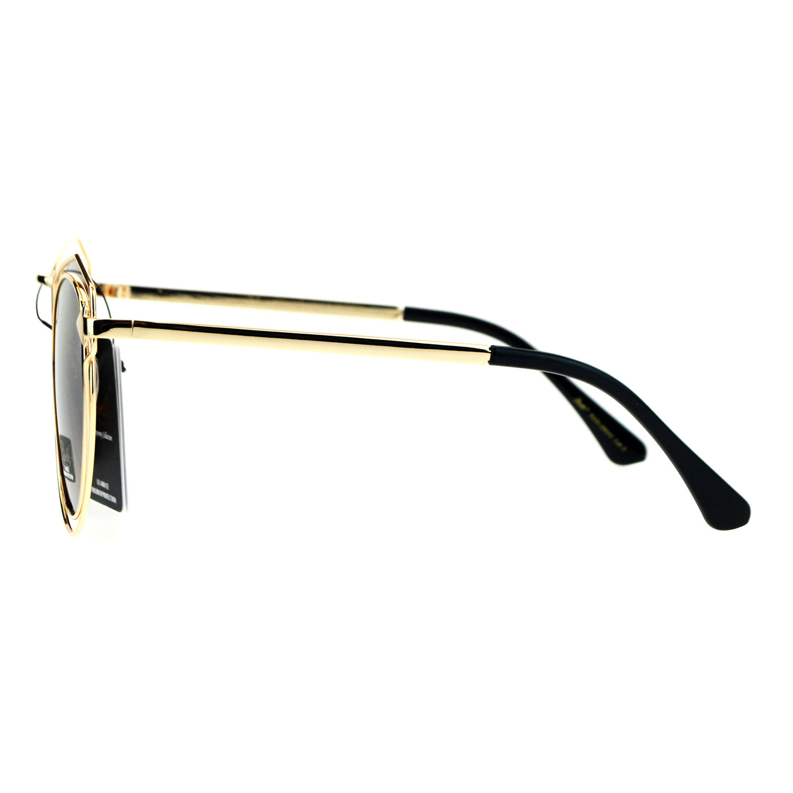 Giselle Wire Metal Rim Horn Rim Designer Fashion Sunglasses