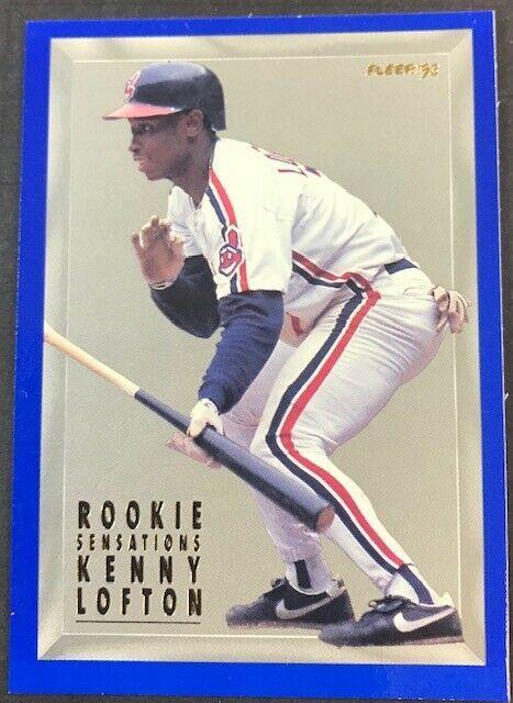 1993 Fleer Series 1 Rookie Sensations #1 Kenny Lofton Cleveland Indians Card