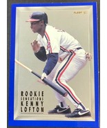 1993 Fleer Series 1 Rookie Sensations #1 Kenny Lofton Cleveland Indians ... - $3.91