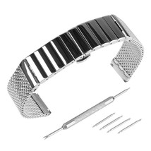 Beauty7 18mm Stainless Steel Link Mesh Two Tone Watch Band Kit Bracelet ... - $51.56