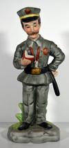 "Vintage 8"" Hand Painted Porcelain Citation Policeman Statue Great Funny ... - $18.99"