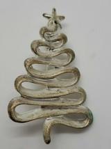 Vintage silver tone Danecraft abstract holiday Christmas tree brooch pin - $8.42