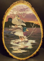 New Real Wooden Duck Wall Hanging Decoration 11in - $16.82