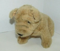 Russ Berrie Plush Pugsley tan light brown puppy dog Pug small - $12.86