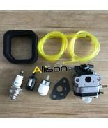 Carburetor Air Filter Kit For Troy Bilt TB516EC Edger 29cc 4 Stroke Engi... - $19.77