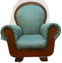 "Dayton Hudson Chair SOFA Victorian Green Upholstered American Girl 18"" D... - $37.99"