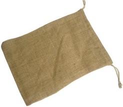 Burlap Drawstring Bag 10x14 Inch Natural 12 Pcs. - $22.31