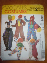 McCall's Kids Clown Costumes Size 5-6 #3306 Uncut - $5.99