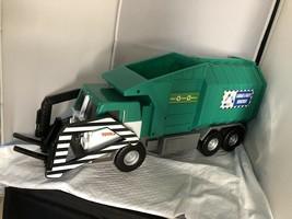 Tonka Green Recycling Garbage And Waste Dept Truck - $44.00
