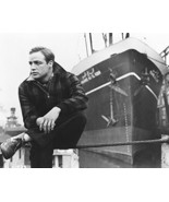 Marlon Brando On The Waterfront 16x20 Canvas Giclee Posing By Ship On Docks - $69.99