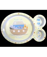 Cudlie Noah's Ark Child Baby Toddler Melamine Divided Plate Animals Two ... - $4.99
