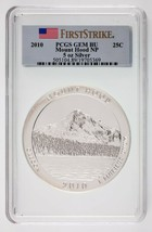 2010 25C Mount Hood NP ATB 5 Oz Silver Round Graded by PCGS as Gem BU - $222.75