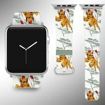 The Lion King Simba Disney Apple Watch Band 38 40 42 44 mm Fabric Leather Strap - $24.97