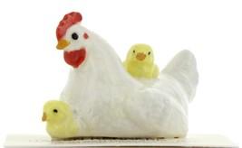 Hagen Renaker Miniature Chicken Hen with Chicks Ceramic Figurine