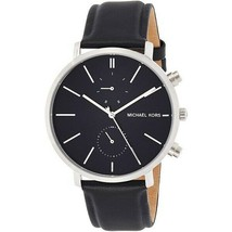 Michael Kors Men's Watch Stainless Steel Case Leather Band Black Dial MK8539 - $195.24