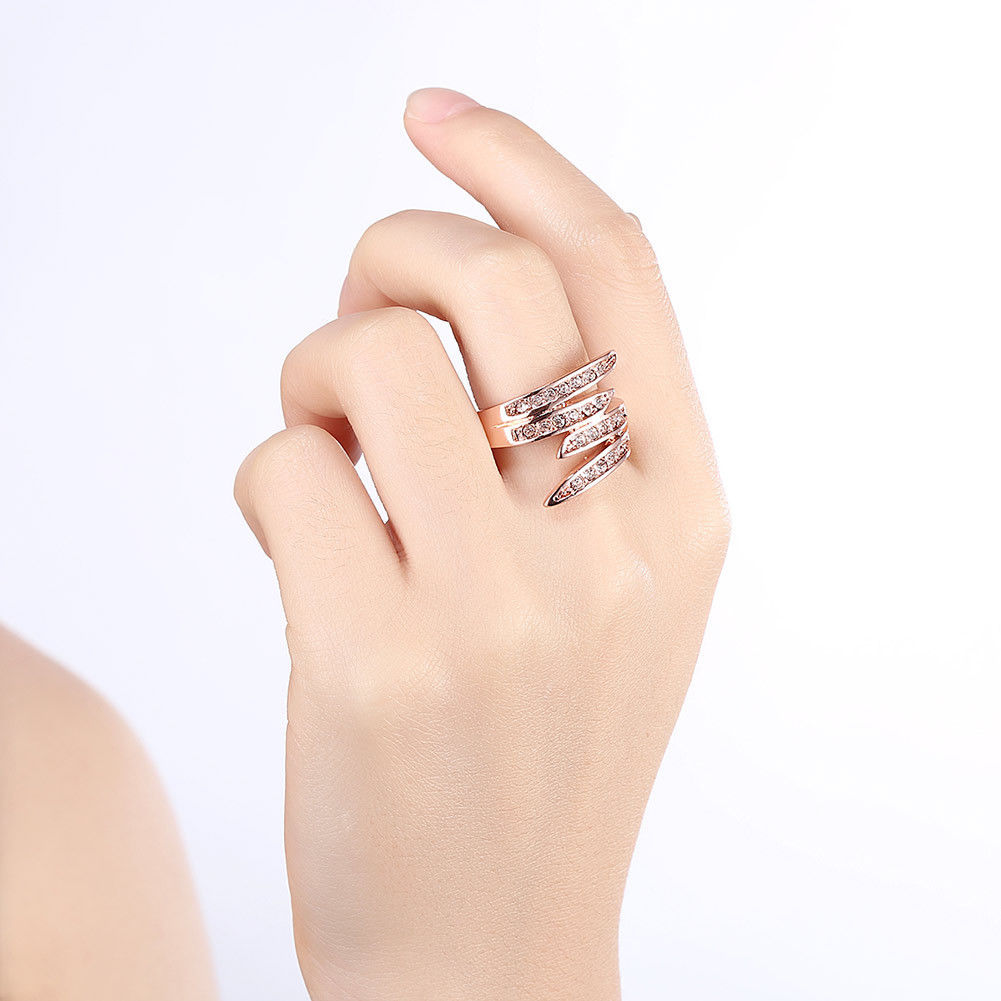 DYNAMIC CRYSTAL ROSE GOLD RING SIZE 7 EUR 55 2015 SWAROVSKI JEWELRY 5143412 image 4
