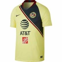 Nike Club America Home Soccer Jersey 2018/19 Yellow/Navy  - $65.00