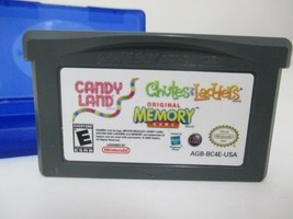 CANDY LAND/CHUTES AND LADDERS/MEMORY NINTENDO GAME BOY ADVANCE SP GBA + ... - $8.01 CAD