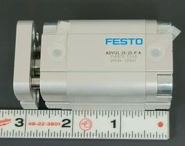 NEW FESTO ADVUL-25-25-P-A COMPACT AIR CYLINDER 156870 PMAX 10BAR