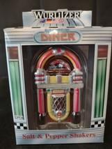 Vintage 1998 Enesco 50's style Wurlitzer Juke Box Salt & Pepper Shakers Set box - $21.97
