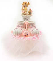 "Baby Girl Birthday Shower Cake Top 7"" tall 6"" wide - $29.65"