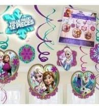 Disney FROZEN Anna Elsa Hanging Swirl Decorations Birthday Party Supplie... - $5.31