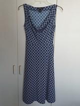 Express Ladies Sleeveless Knit DRESS-3/4-TIE BELT-FLARED SKIRT-POLYESTER-WORN 1 - $11.99