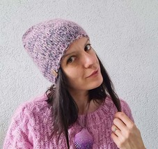 Warm kitted winter hat - beanie - slouchy hat - $30.00