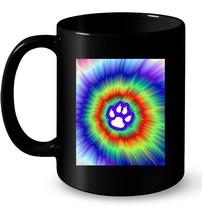 Tie Dye Animal Cat Dog Paw Print Pet Lover Ceramic Mug Gift - $13.99+