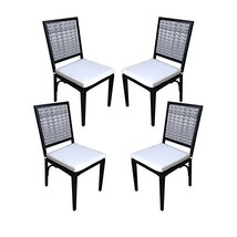 Wicker Dining Chair Set of 4, Rattan Dining Side Chair Patio Furniture H... - $322.16
