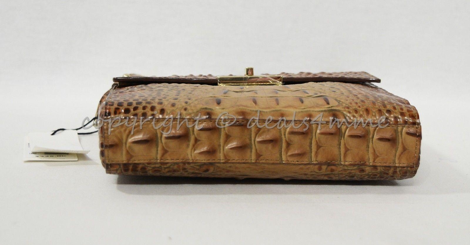 NWT Brahmin Manhattan Leather Shoulder/Crossbody Bag in Toasted Almond Melbourne image 9