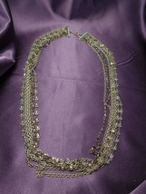 Ann Taylor Loft Multi-Strand Necklace Beaded Chain Statement Necklace - $24.75