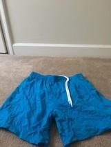Speedo Men's Mesh Lined SwimWear Board Shorts Trunks Sz M Turquoise Blue  - $27.00