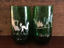 Anchor Hocking Forest Green Gay Nineties 13 oz ... - $19.99